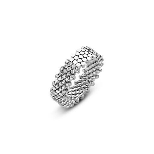 Serafino Consoli Flexibele ring Brevetto half gezet multi size 7rij