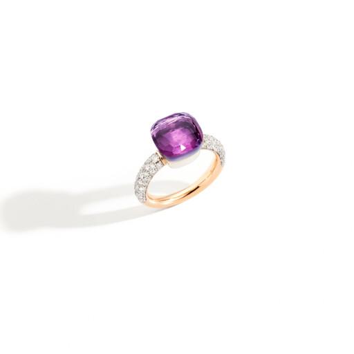 Pomellato Ring Nudo amethist