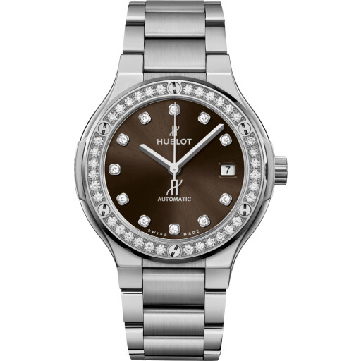 Hublot Horloge Classic Fusion 38mm Titanium Brown 568.NX.897M.NX.1204