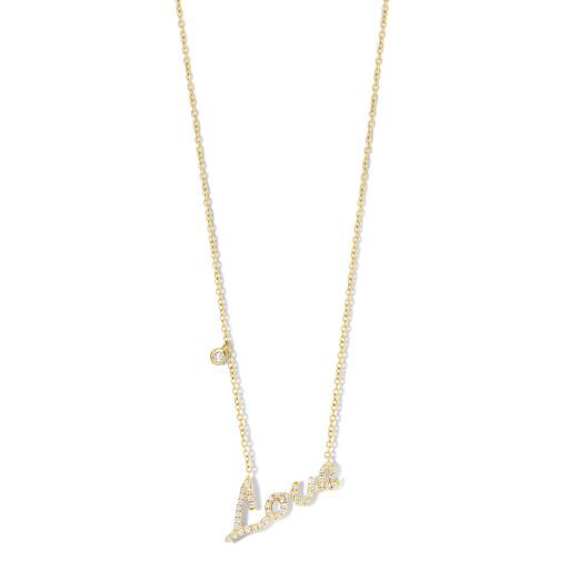 Schaap en Citroen Collier met hanger Diamonds LOVE