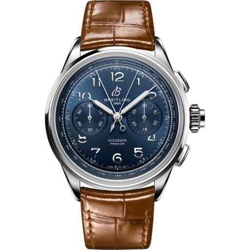 Breitling Horloge Premier B15 42mm Duograph AB1510171C1P1