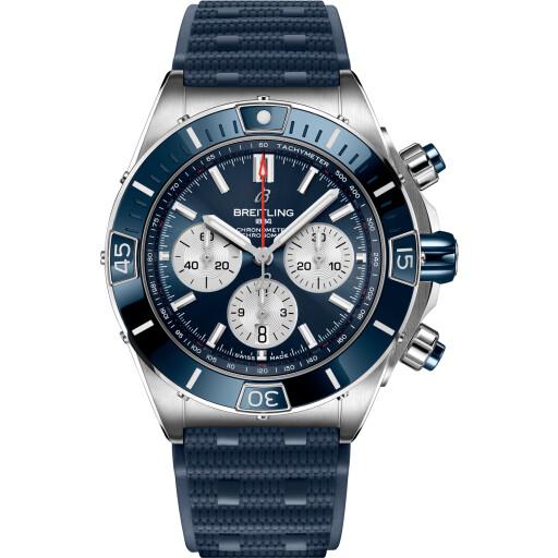 Breitling Horloge Super Chronomat B01 44mm Blue Ring AB0136161C1S1