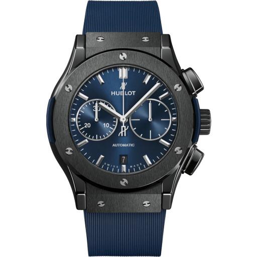 Hublot Horloge Classic Fusion 45mm Ceramic Blue Chronograph 521.CM.7170.RX