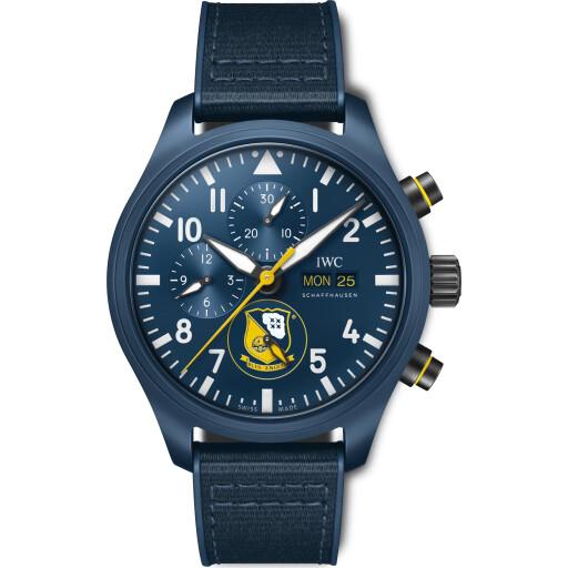 IWC Horloge Pilot Watch 45mm Chronograph Edition Blue Angels IW389109